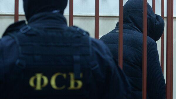 Сотрудник ФСБ в зале суда. Архивное фото
