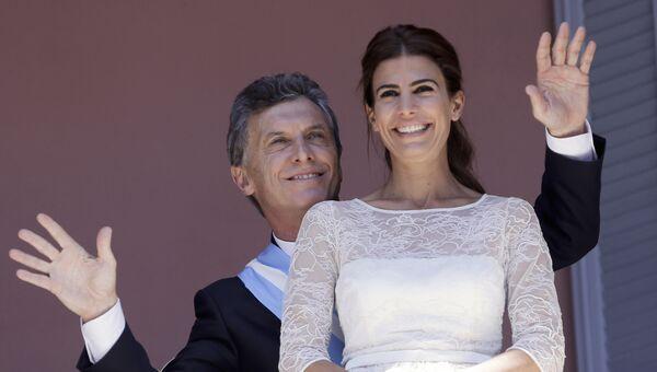 Первая леди Аргентины Хулиана Авада с супругом Маурисио Макри, Президентом Аргентины. Архивнео фото