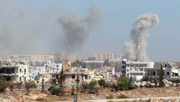 Дым над Алеппо. Архивное фото