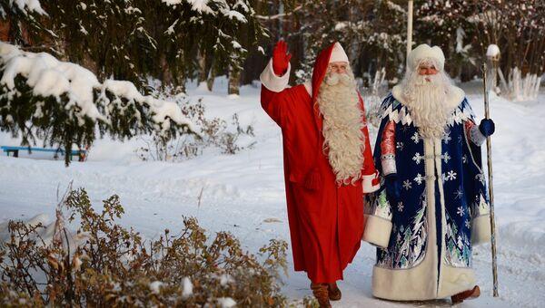 Финский Санта-Клаус Йоулупукки и русский Дед Мороз в Екатеринбурге