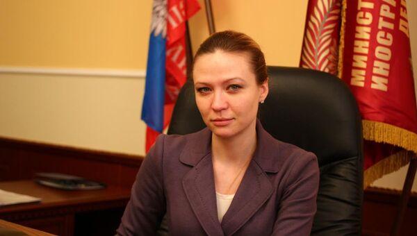 И.о. министра иностранных дел Донецкой Народной Республики Наталья Никонорова. Архивное фото