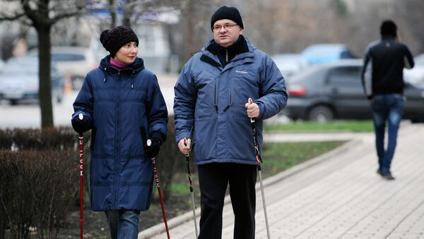Скандинавская ходьба. Архивное фото