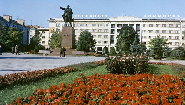 На одной из улиц Тернополя. Архивное фото
