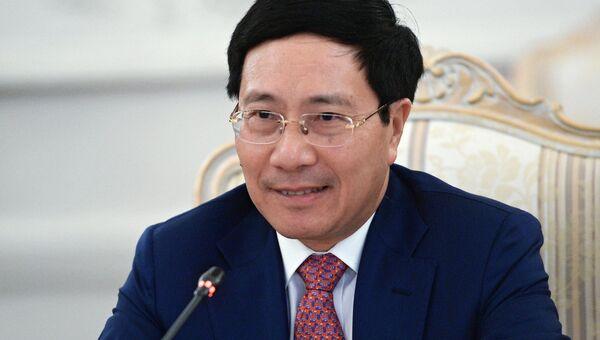 Министр иностранных дел Социалистической Республики Вьетнам Фам Бинь Минь в Москве