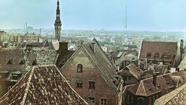 Вид на старую часть Таллина, Эстония. Архивное фото