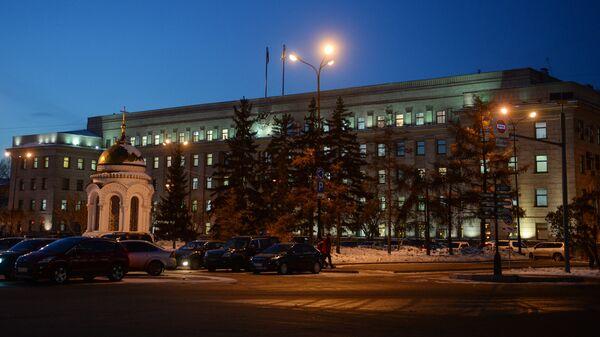 Здание администрации Иркутской области на площади имени графа Сперанского в городе Иркутск