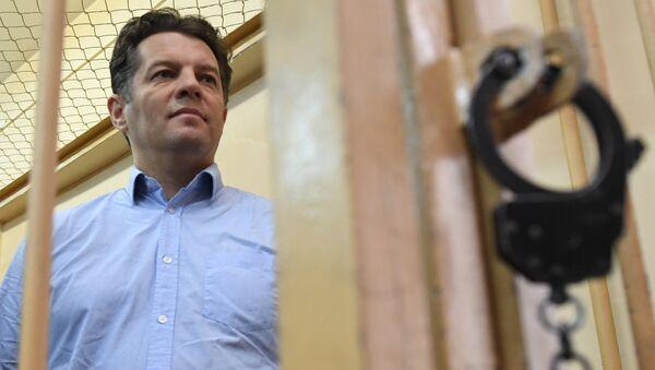 Задержанный в России по обвинению в шпионаже гражданин Украины Роман Сущенко. Архивное фото