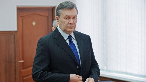 Бывший президент Украины Виктор Янукович в Ростовском областном суде, где он дает показания по видеосвязи в качестве свидетеля по делу о беспорядках в Киеве в феврале 2014 года. Архивное фото