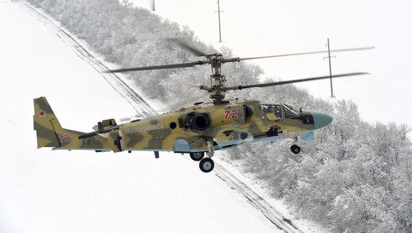 Тестовые полеты вертолета Ка-52 Аллигатор. Архивное фото