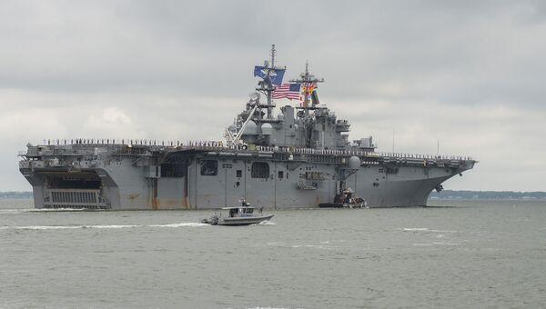Универсальный десантный корабль Wasp ВМС США. Архивнео фото