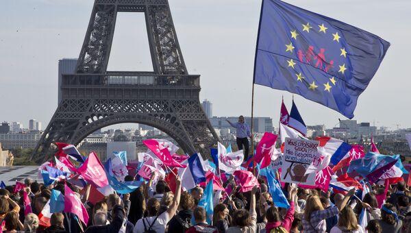 Демонстрация против однополых браков в Париже, Франция