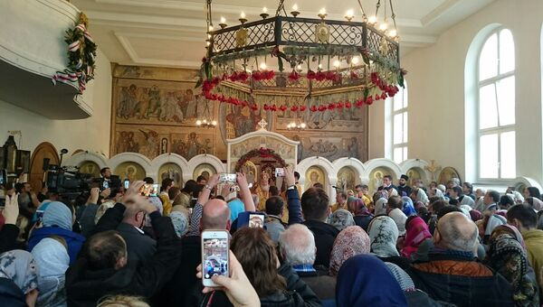Патриарх Кирилл совершил Божественную литургию в Цюрихе в храме РПЦ в честь Воскресения Христова