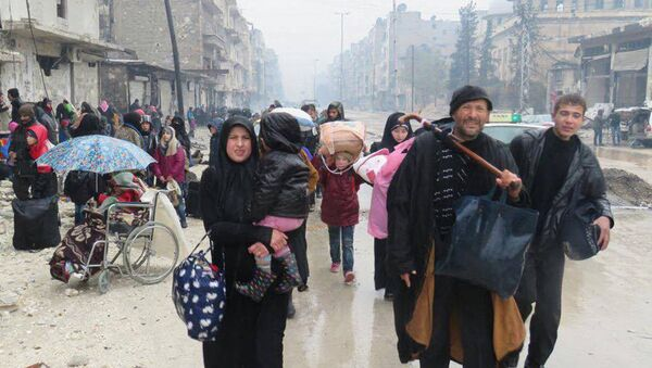 Жители в восточном Алеппо