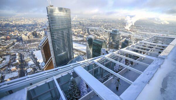 Каток на крыше башни Око ММДЦ Москва-Сити