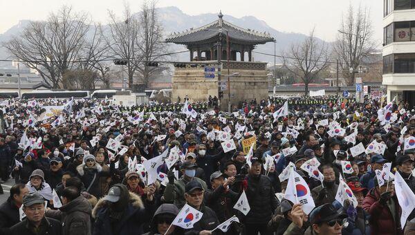 Митинг в Сеуле за импичмент президента Южной Кореи. Архивное фото