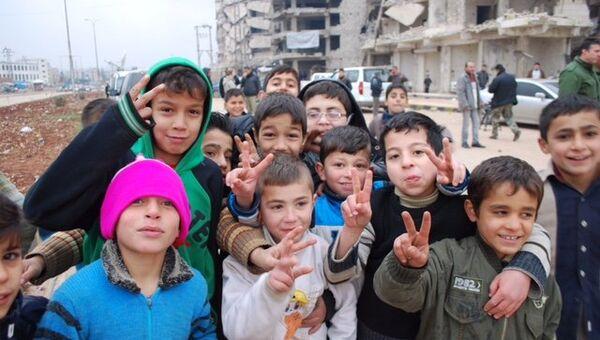 Сирийские дети. Декабрь 2016