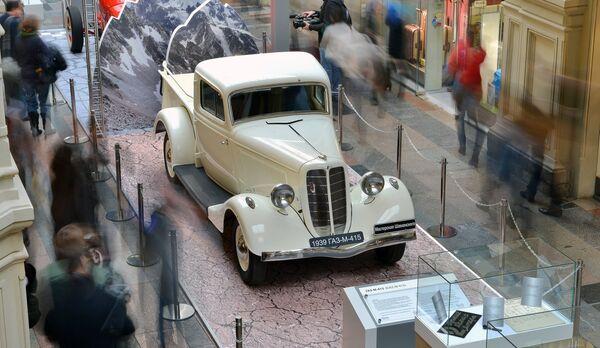 Автомобиль ГАЗ-М-415 на выставке Герои своего времени