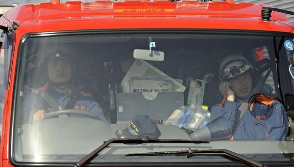 Японские пожарные. Архивное фото