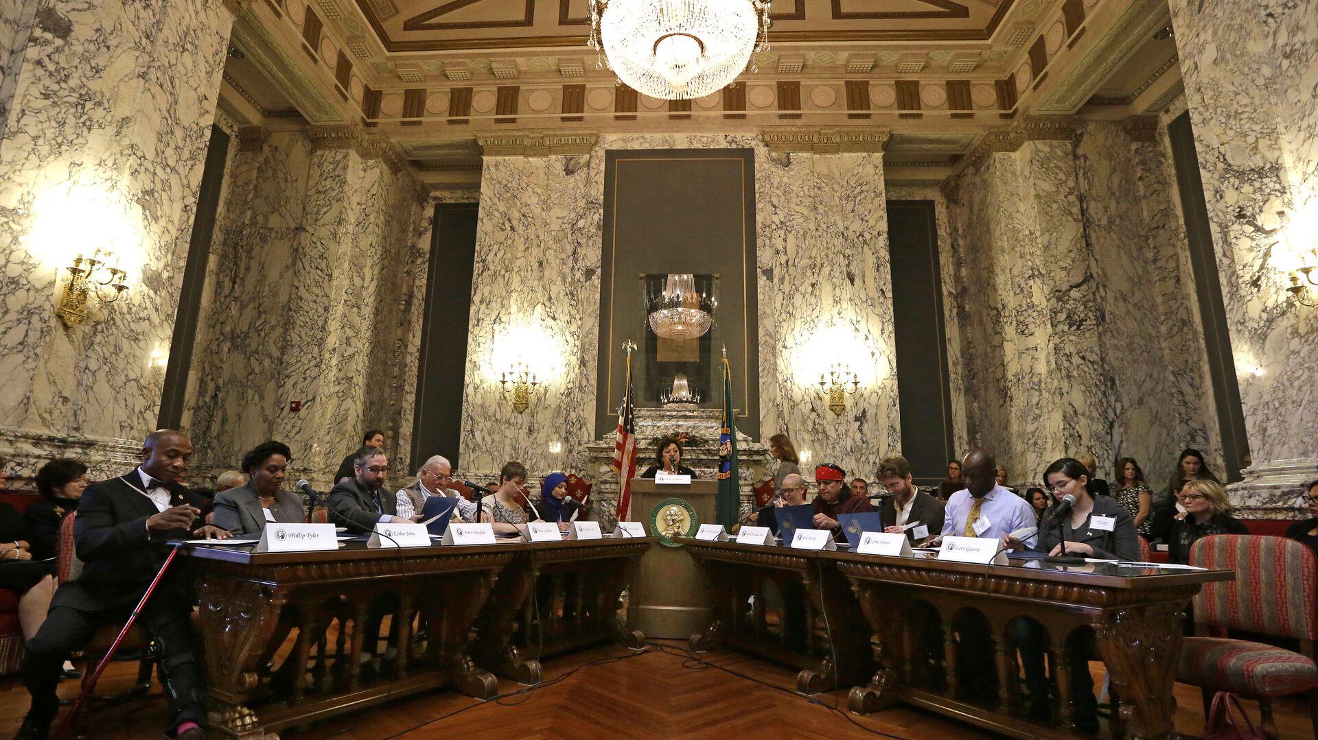 Заседание коллегии выборщиков в Вашингтоне. 19 декабря 2016 - РИА Новости, 1920, 09.11.2020