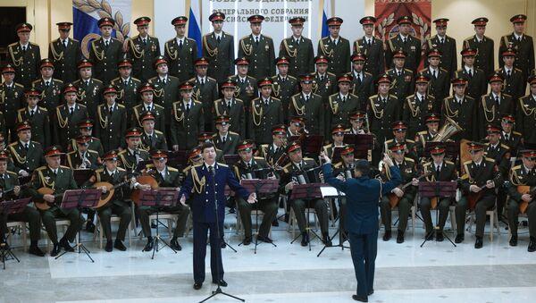 Академический Ансамбль песни и пляски Российской Армии имени А.В. Александрова. Архивное фото