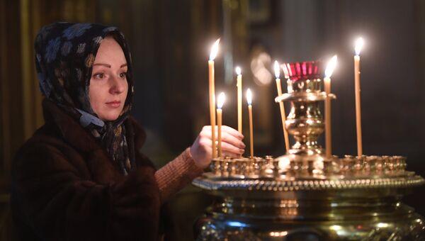 Панихида в Богоявленском кафедральном соборе в Москве по погибшим в авиакатастрофе Ту-154 в Сочи