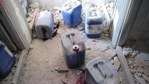Спутник посетил фабрику по производству химоружия в Алеппо