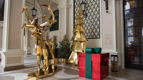 Новогодняя инсталляция на церемонии открытия Сочи Казино и Курорт