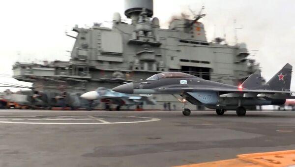 Боевая работа авиации ТАВКР Адмирал Кузнецов в Средиземном море у берегов Сирии