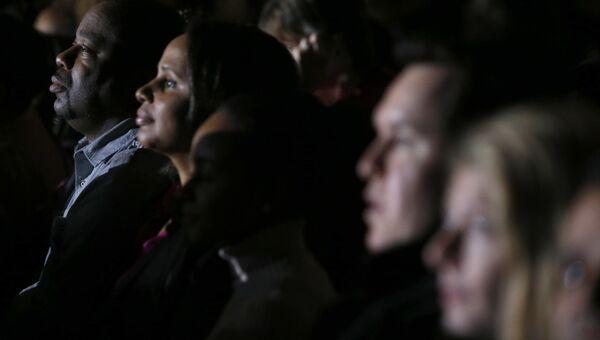 Народ в зрительном зале во время прощальной речи Барака Обамы в Чикаго. 10 января 2017