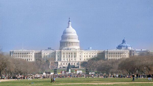 Вид на Капитолий. Вашингтон. Архивное фото.