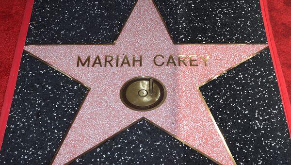 Звезда Мэрайи Кэри на голливудской Аллее славы. Архивное фото