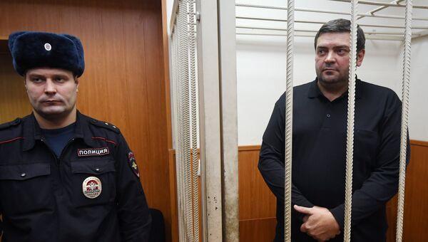 Мэр Переславля-Залесского Денис Кошурников в суде. Архивное фото
