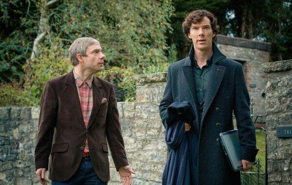 Кадр из телесериала Шерлок