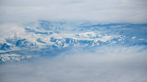 Берега Антарктиды снятые космонавтом Роскосмоса Сергеем Рыжиковым
