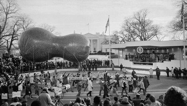 Во время инаугурации Джимми Картера в Вашингтоне, округ Колумбия, США, 1977