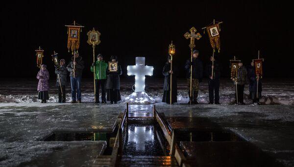 Крещенские купания в Богородицком Житенном женском монастыре в Осташкове