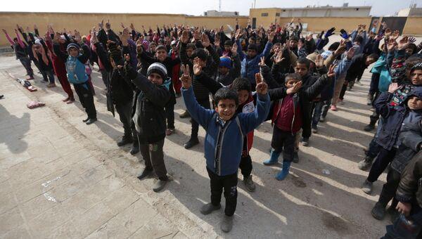 Сирийские дети на севере Алеппо