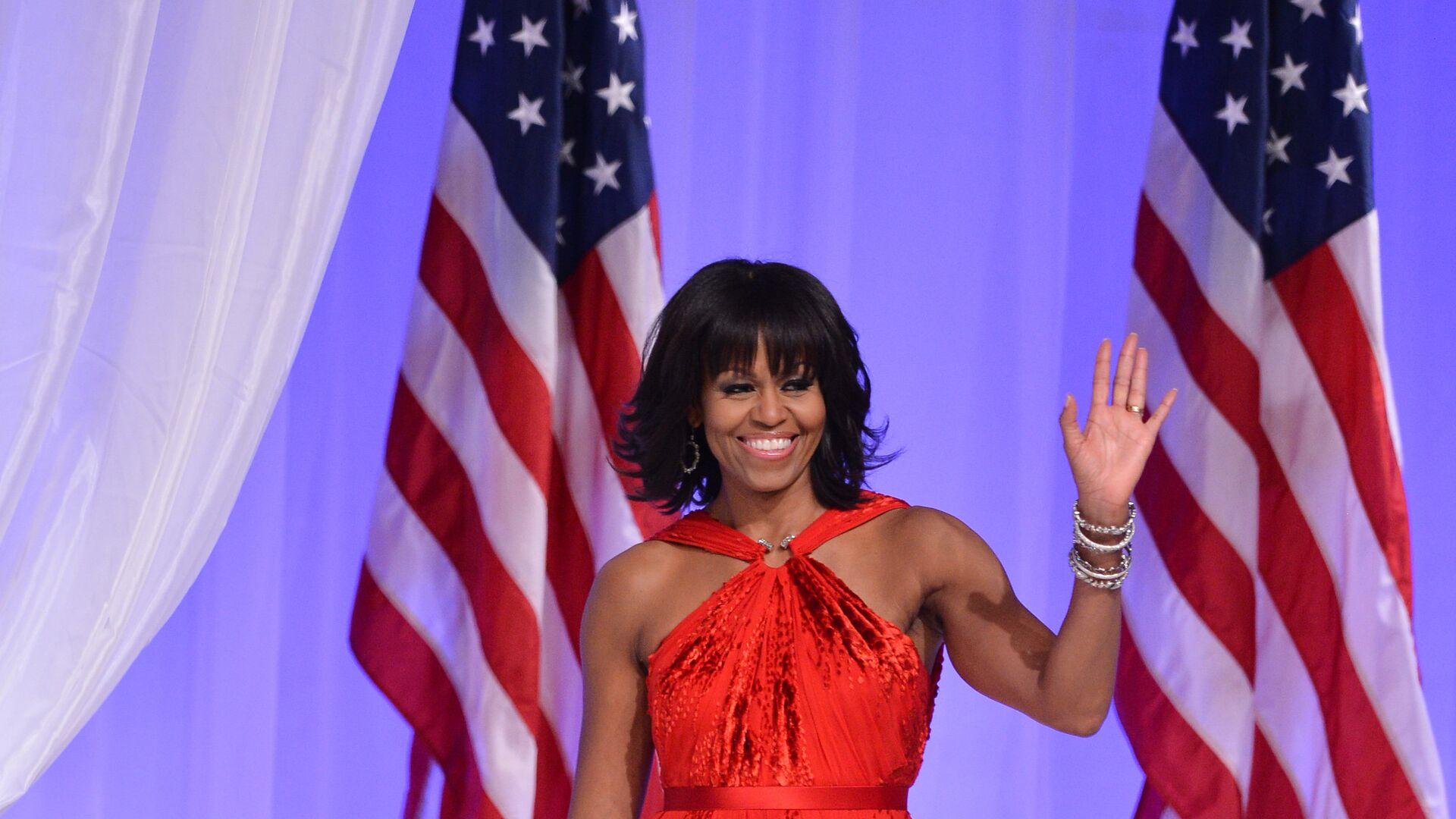 Первая леди Мишель Обама танцуют на торжественном балу - РИА Новости, 1920, 08.01.2021