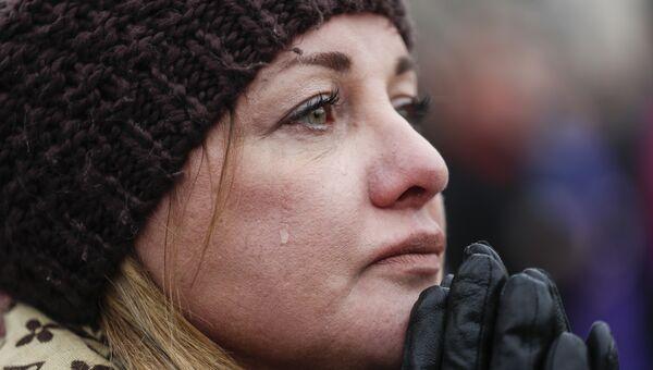 Шерил Эдмондсон плачет во время инаугурации Дональда Трампа. 20 января 2017 года