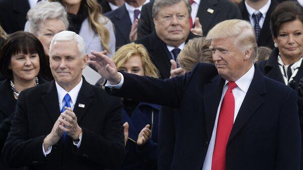 Президент США Дональд Трамп и вице-президент США Майк Пенс. Архивное фото