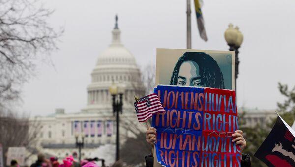 Женские протесты против Трампа в Вашингтоне