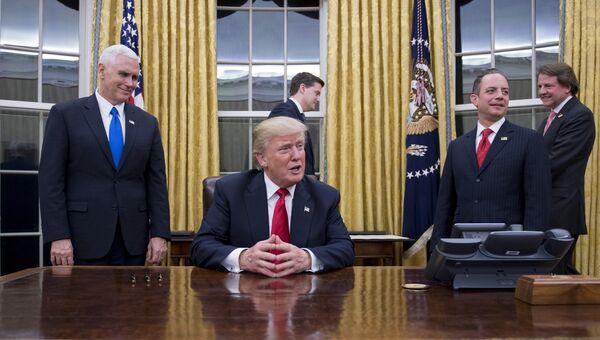 Президент США Дональд Трамп в Овальном кабинете Белого дома в Вашингтоне, США. Архивное фото