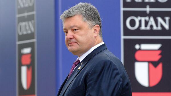 Президент Украины Петр Порошенко на саммите НАТО в Варшаве. Архивное фото