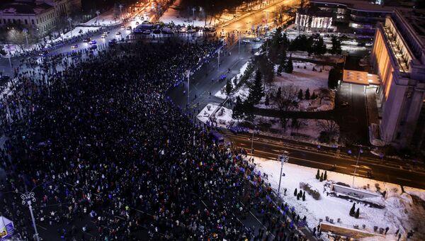 Акции протеста в Румынии. Архивное фото