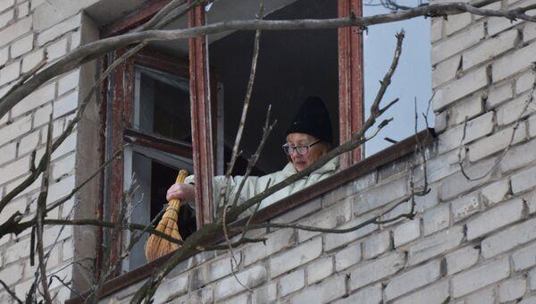 Последствия ночного обстрела в Донецке. Архивное фото