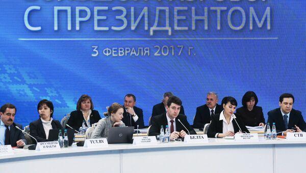 Пресс-конференция с президентом Белоруссии А. Лукашенко в Минске. 3 февраля 2017