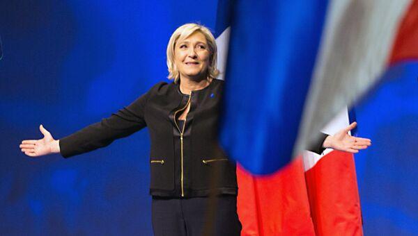 Кандидат на пост президента Франции, лидер французской партии Национальный фронт Марин Ле Пен