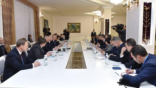 Участники заседания совместной оперативной группы России, Турции и Ирана в Астане. Архивное фото
