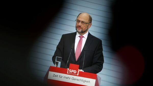 Пресс-конференция Мартина Шульца в Берлине. Архивное фото