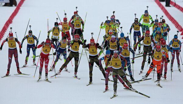 Тренировка сборной России по биатлону в Тюмени. Архивное фото